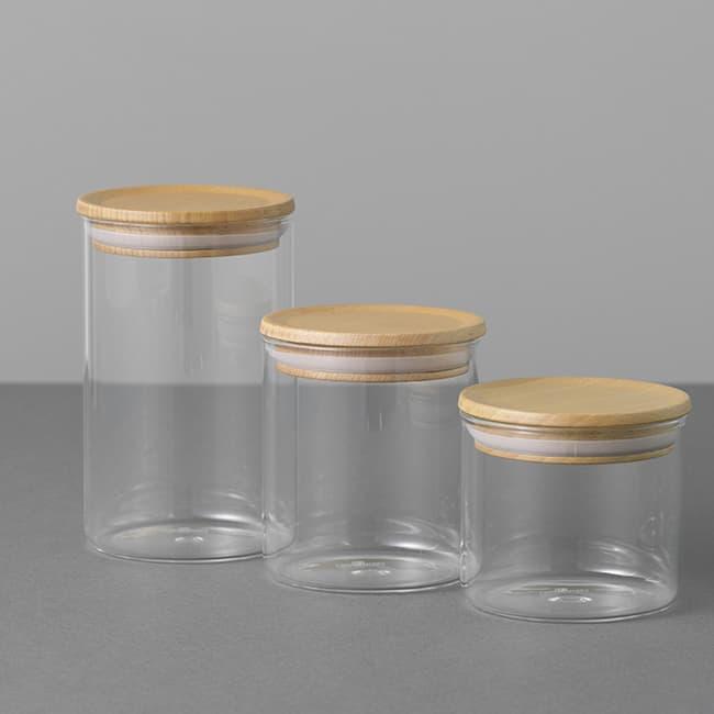 CASUALPRODUTCT Standard GlassCanister WoodLid Kitchen