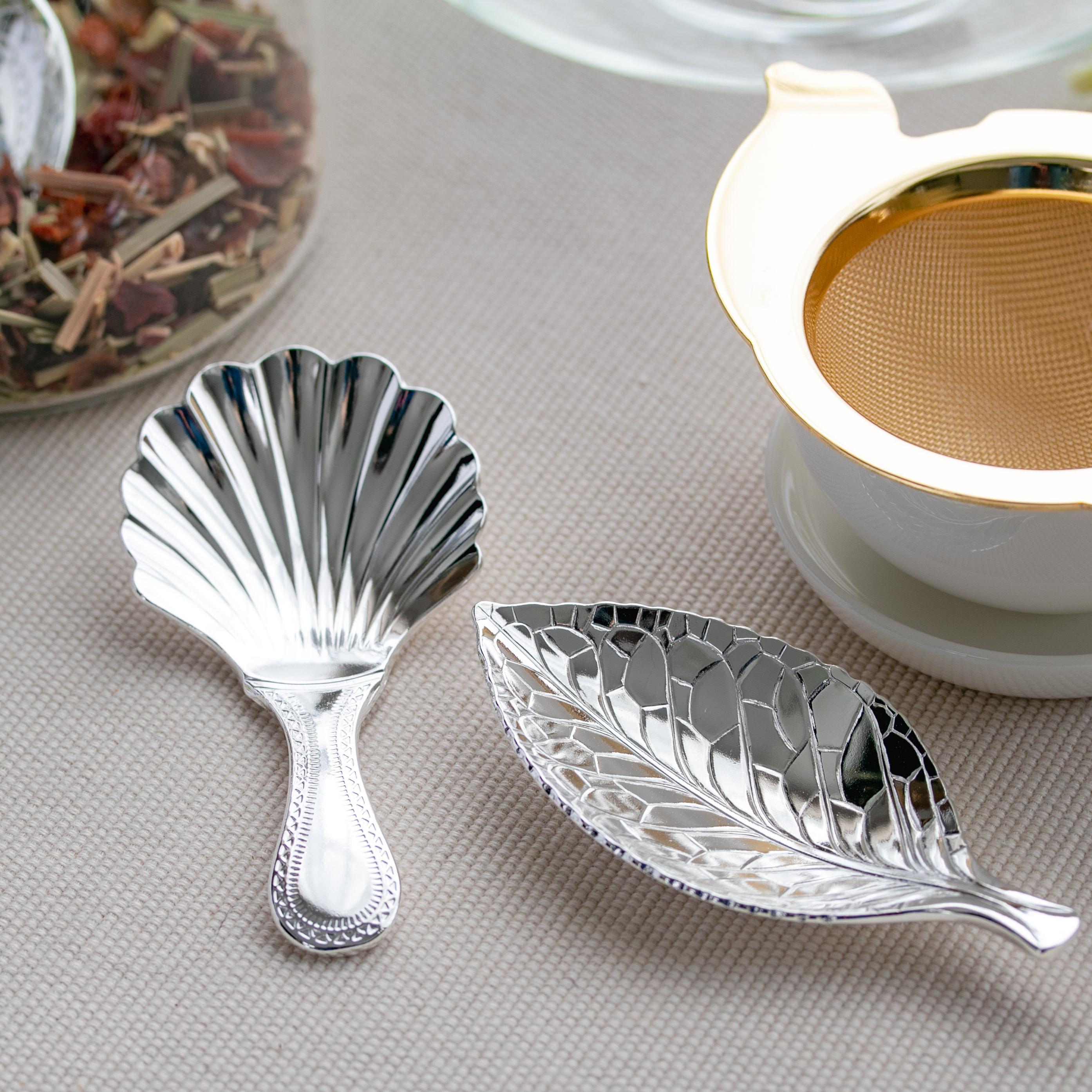 カジュアルプロダクト ティーキャディースプーン シェルワーク お茶