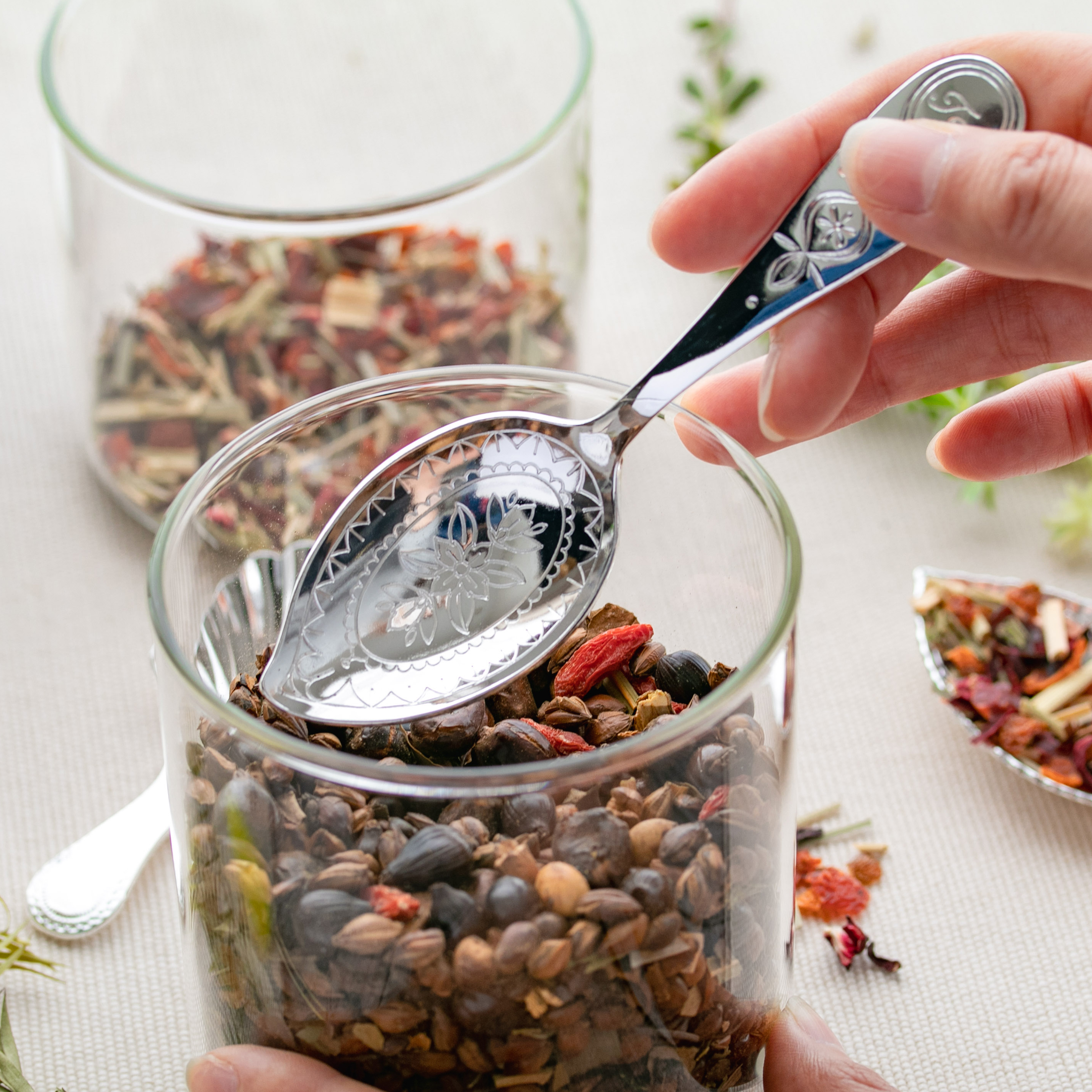 カジュアルプロダクト ティーキャディースプーン ティーフラワー 紅茶