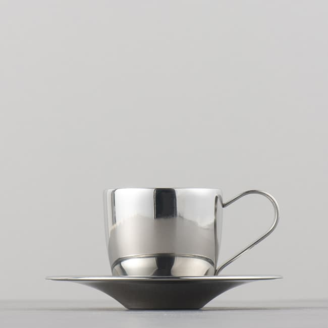 Casualproduct Cafeteria EspressoCup&Saucer Stainless
